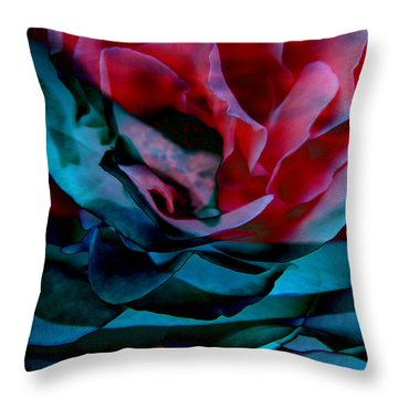 Romance - Abstract Art Throw Pillow by Jaison Cianelli