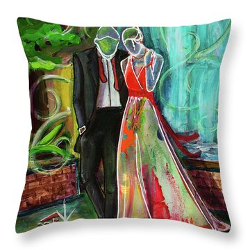 Romance Each Other Throw Pillow