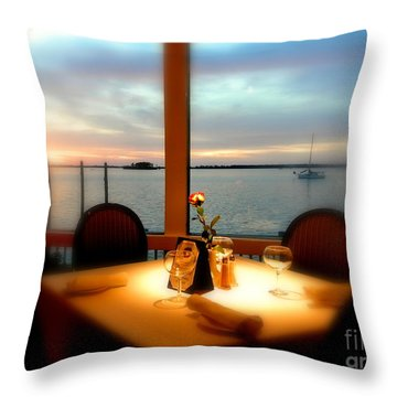 Throw Pillow featuring the photograph Romance by Elfriede Fulda