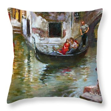 Romance In Venice 2 Throw Pillow