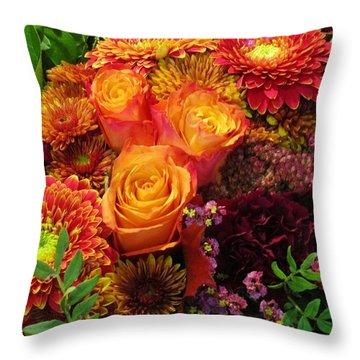 Romance Of Autumn Throw Pillow