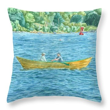 Romance On Hussey Sound Throw Pillow