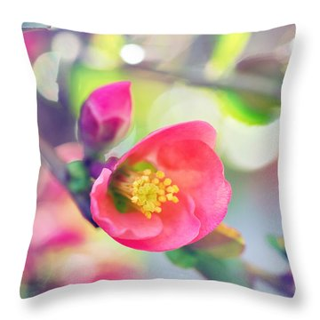 Romancing Spring I Throw Pillow