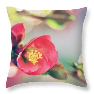 Romancing Spring II Throw Pillow
