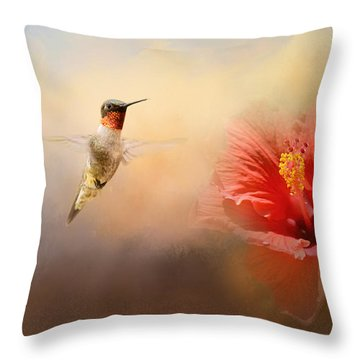 Romancing The Hibiscus Throw Pillow