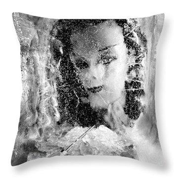 Romancing The Ice Princess Throw Pillow