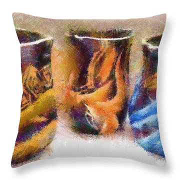 Romanian Vases Throw Pillow by Jeff Kolker