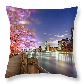 Romantic Blooms Throw Pillow by Az Jackson