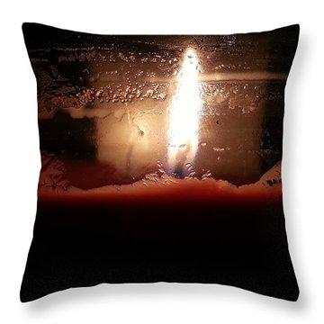 Romantic Candle Throw Pillow