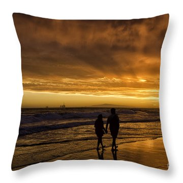 Romantic Couple Throw Pillow