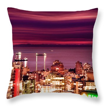 Romantic English Bay Throw Pillow