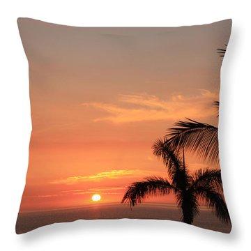 Romantic Hawaiian Sunset Throw Pillow by Karen Nicholson