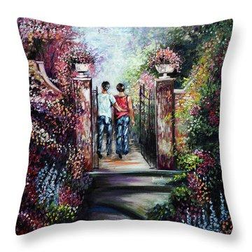 Romantic Landscape Throw Pillow