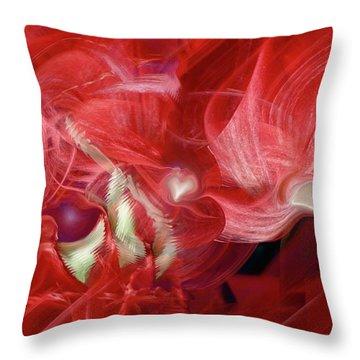 Romantic Love Throw Pillow by Linda Sannuti