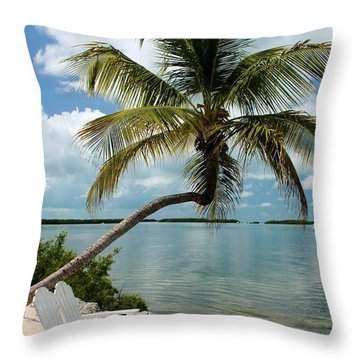 Romantic Lovers Bench Throw Pillow