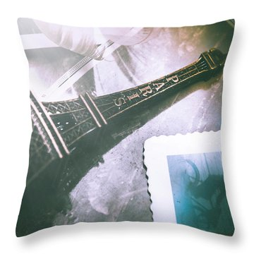 Romantic Paris Memory Throw Pillow by Jorgo Photography - Wall Art Gallery