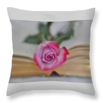 Throw Pillow featuring the photograph Romantic Read 2 by Diane Alexander