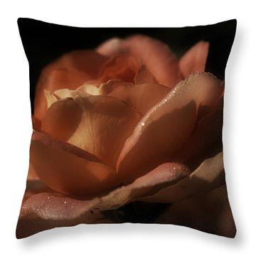 Romantic September Rose Throw Pillow