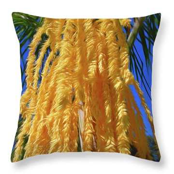 Throw Pillow featuring the photograph Romantic Skies Cascading Seed Pod by Aimee L Maher Photography and Art Visit ALMGallerydotcom
