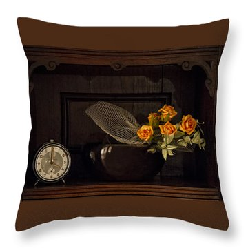 Romantic Still Life Throw Pillow