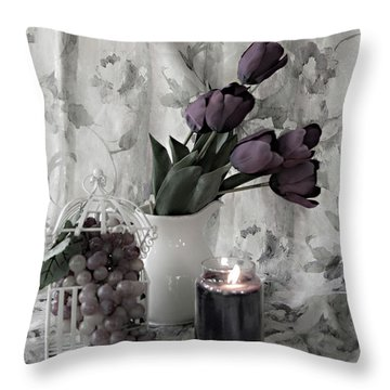 Throw Pillow featuring the photograph Romantic Thoughts by Sherry Hallemeier