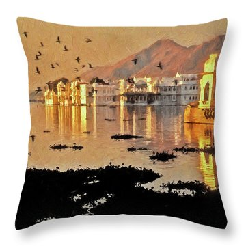 Romantic Udaipur Throw Pillow