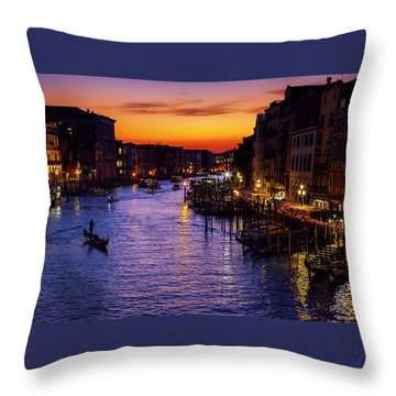 Throw Pillow featuring the photograph Romantic Venice by Andrew Soundarajan