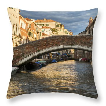 Romantic Venice Throw Pillow