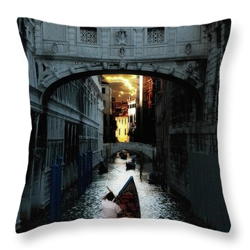 Romantic Venice Throw Pillow by Harry Spitz