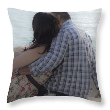 Romantic Whispers Throw Pillow
