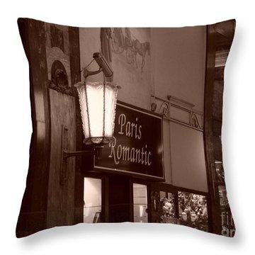 Romantica Parigi Throw Pillow
