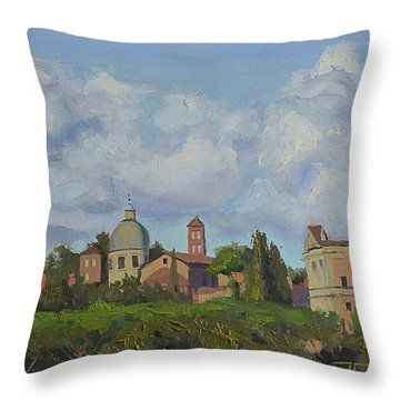 Rome Afternoon Throw Pillow