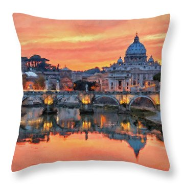 Rome And The Vatican City - 01  Throw Pillow