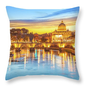 Rome At Twilight Throw Pillow
