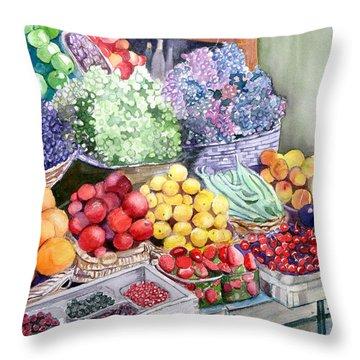 Rome Market Throw Pillow