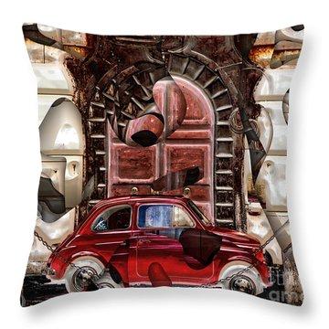 Throw Pillow featuring the digital art Rome Nostalgia by John Rizzuto