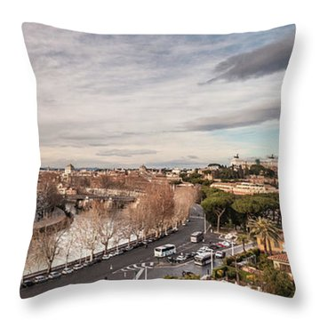 Rome - Panorama  Throw Pillow by Sergey Simanovsky