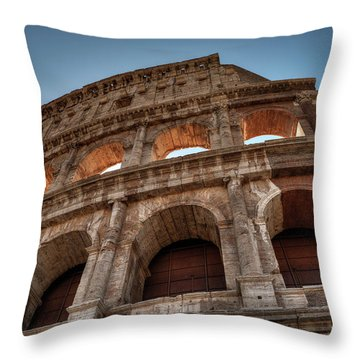 Throw Pillow featuring the photograph Rome - The Colosseum 003 by Lance Vaughn