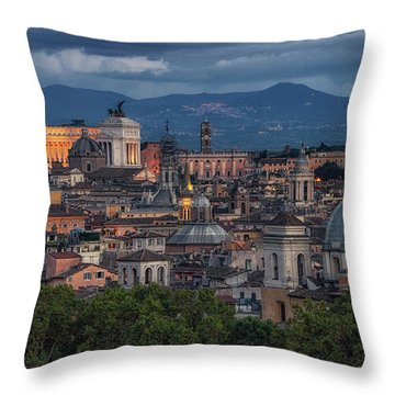 Rome Twilight Throw Pillow