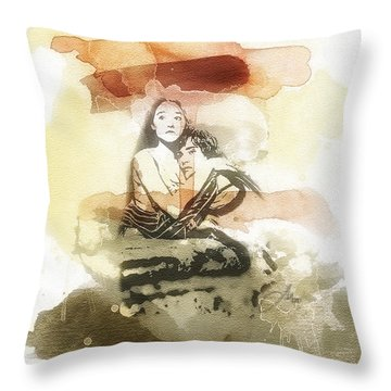 Romeo And Juliet Throw Pillow by Mo T