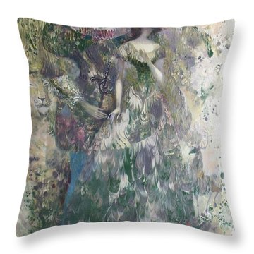 Romeo And Juliet. Monotype Throw Pillow