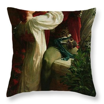 Romeo And Juliet Throw Pillow by Sir Frank Dicksee