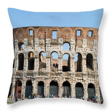 Rome's Colosseum Throw Pillow