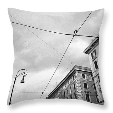 Rome's Downtown Cable Sky Throw Pillow
