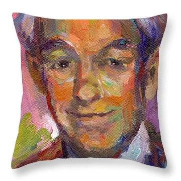 Ron Paul Art Impressionistic Painting  Throw Pillow