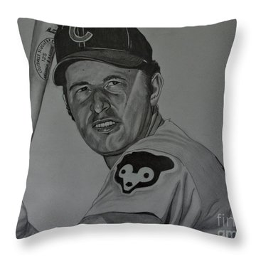Ron Santo Portrait Throw Pillow