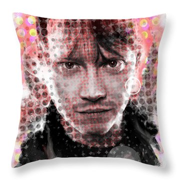 Ron Weasley Halftone Portrait Throw Pillow