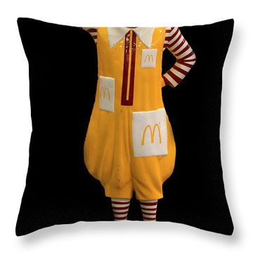 Ronald Mcdonald Throw Pillow by Andrew Fare