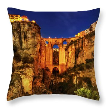 Ronda By Night Throw Pillow