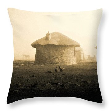 Throw Pillow featuring the photograph Rondavel In Lesotho by Susie Rieple